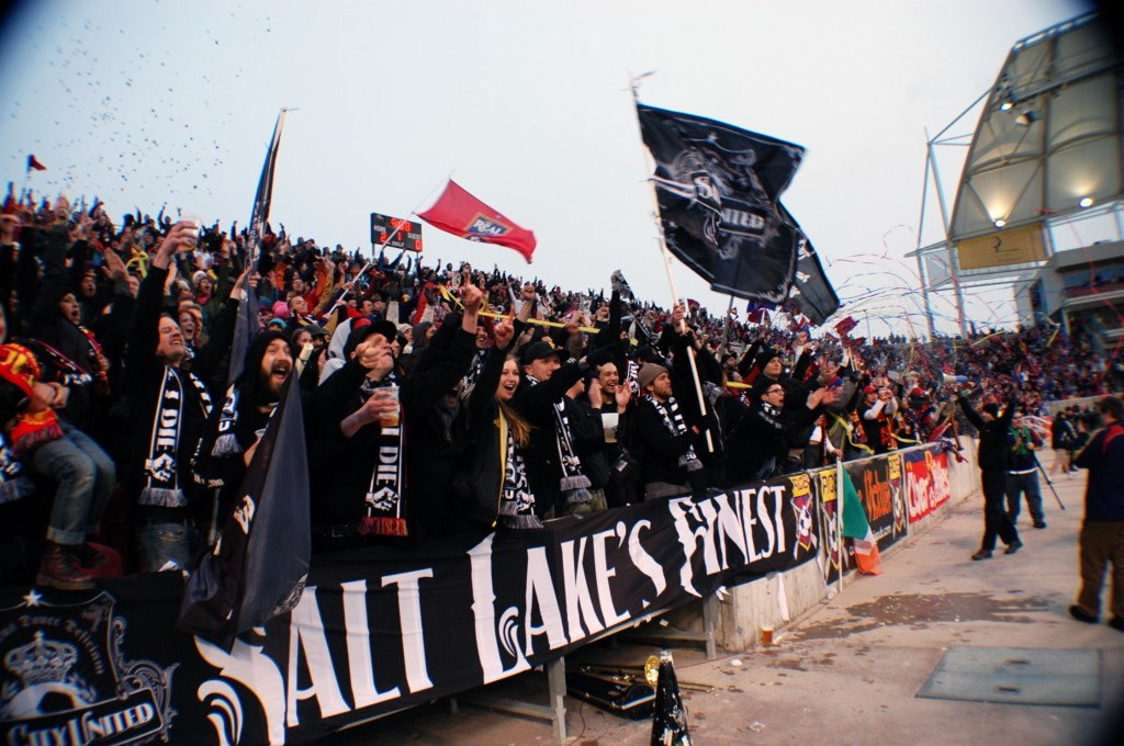 Salt City United, one of Real Salt Lake's official supporter groups
